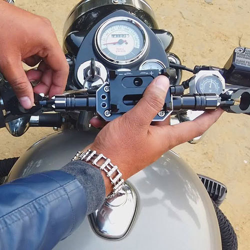 Aluminium Mobile Holder with Vibration Reduction Rod Version-2