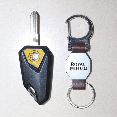 Flip Key for Royal Enfield Classic with a key ring - Design 4