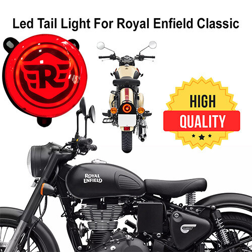 LED Tail Light For Royal Enfield Classic 500 / 350 - NEW DESIGN