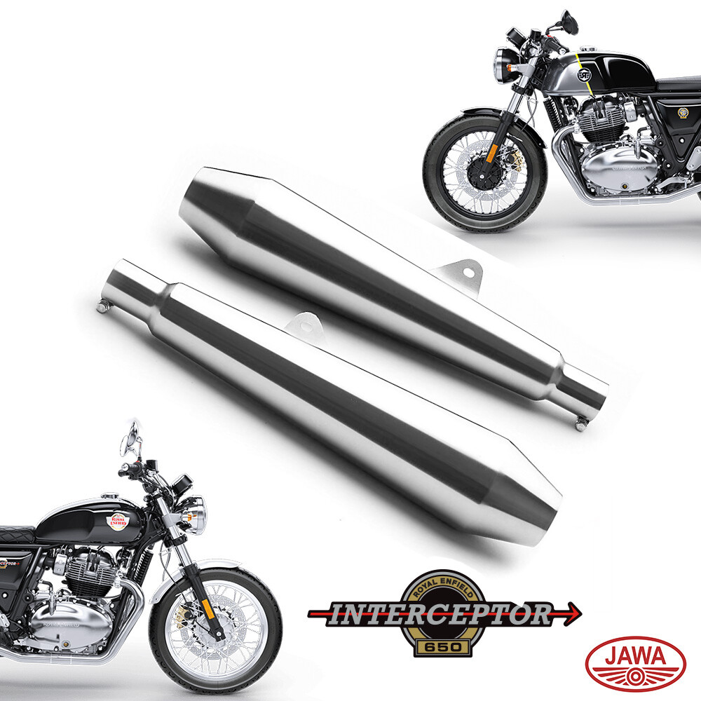 T2 - Dual Exhausts for interceptor 650, GT 650, Java Bikes - pack of 2