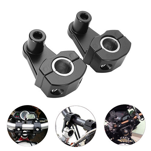 Handlebar Riser for Motorcycle Handle Fat Bar Mount Universal- pack of 2