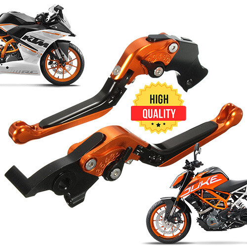 Folding Adjustable Brake Clutch Levers For KTM 125, 200, 250, 390 RC & DUKE