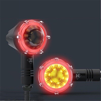 New Age Turn Indicators with DRL Waterproof Decorative Guide Warning Lamp - Set of 4
