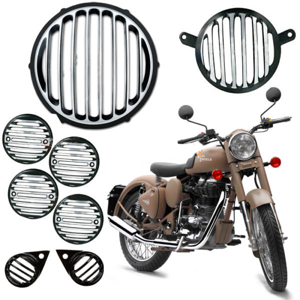 Diamond Metal Grill for Royal Enfield Bullet Classic 350 & 500