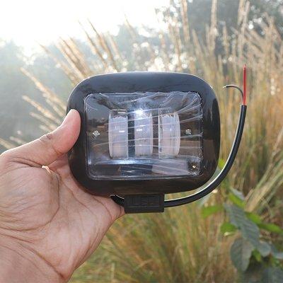 3X Harley type fog lamps - 96 Watt (8640 - Lumens) Square Shape - pair (Still & Flasher)