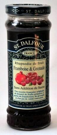 DALFOUR frambozen & granaatappel 284 gr