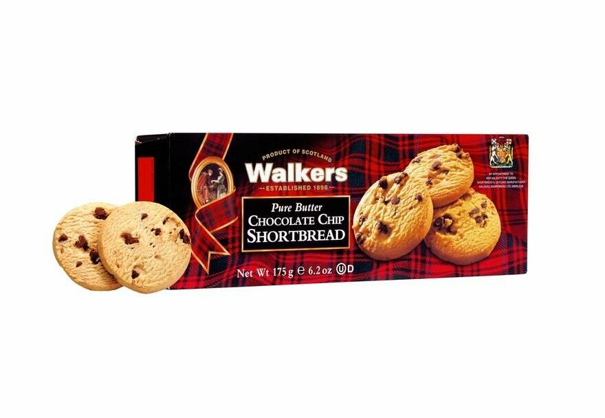 Walkers chocolate chip shortbread 125 gr