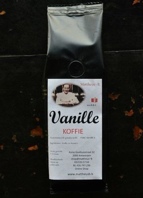 VANILLE FLAVOURED COFFEE gemalen 125 GR