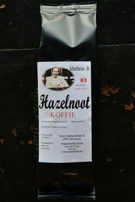 HAZELNUT FLAVOURED COFFEE gemalen 125 GR