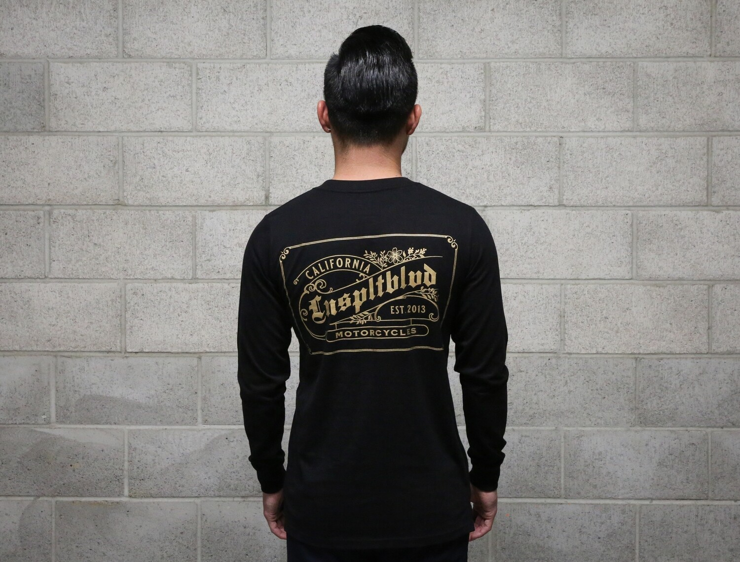 """Stay Golden"" Long sleeve (BLACK)"
