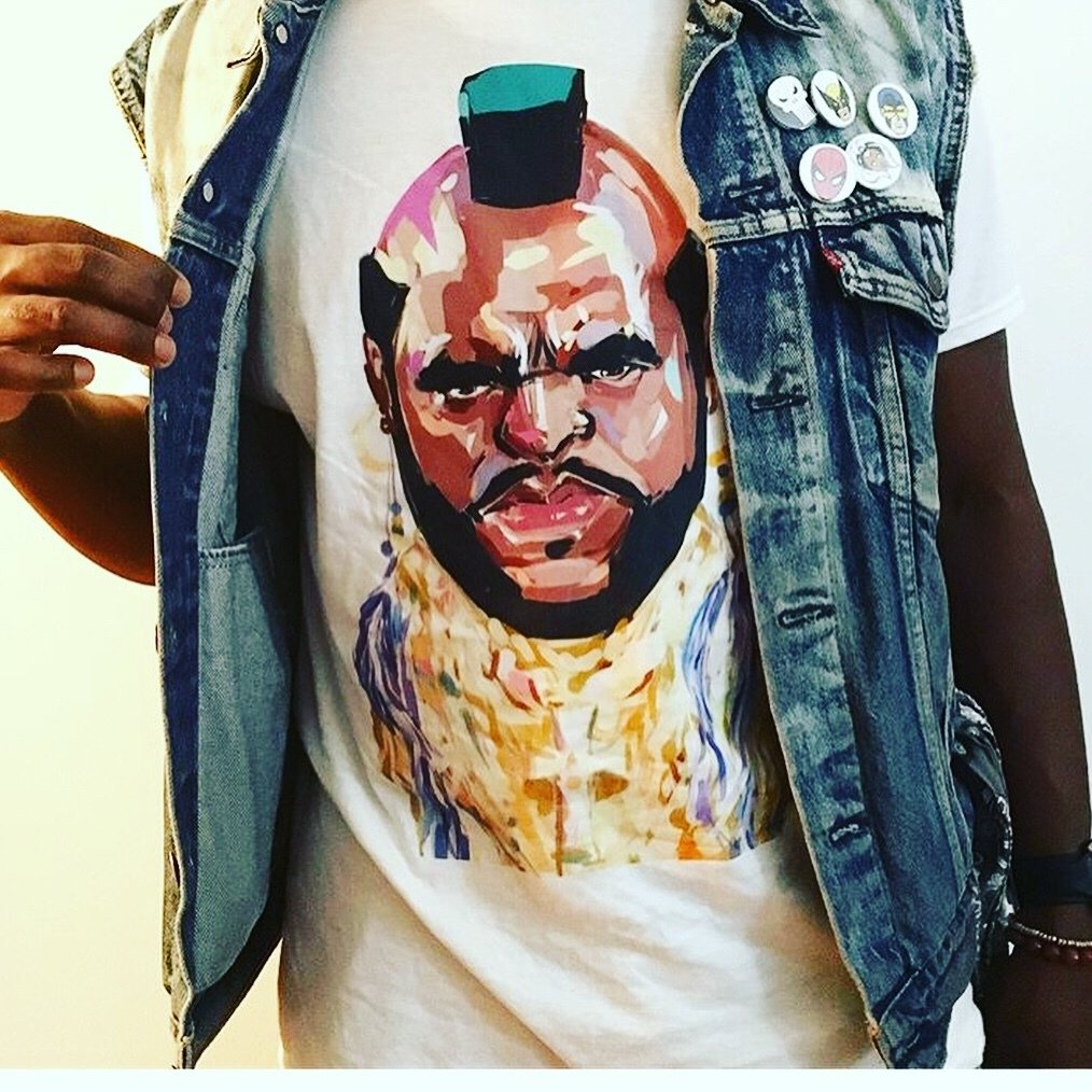 "Mr. T ""Pity the fool"" T-shirts"