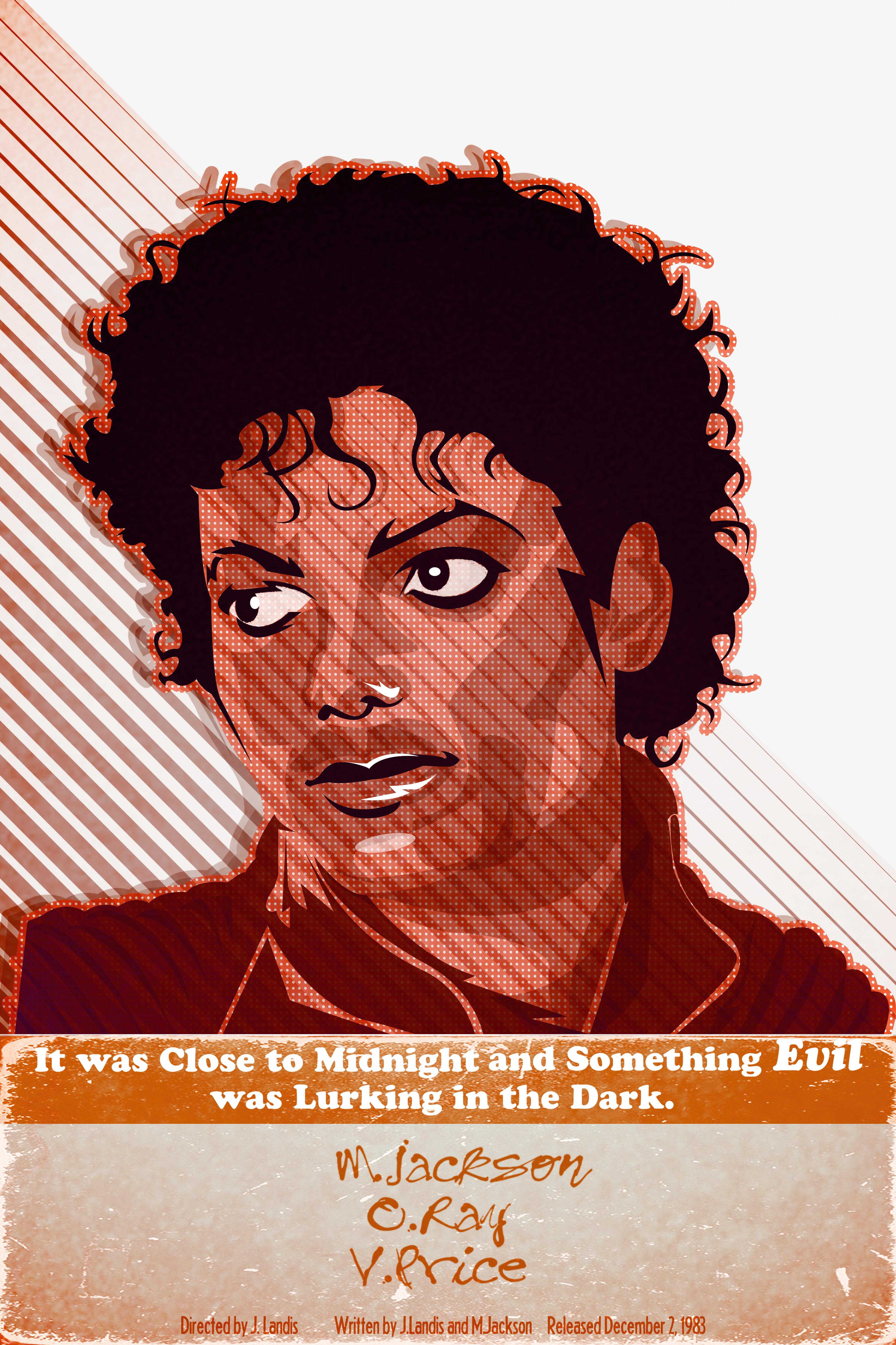 "Michael Jackson ""Thriller"" poster T-shirts 00000"