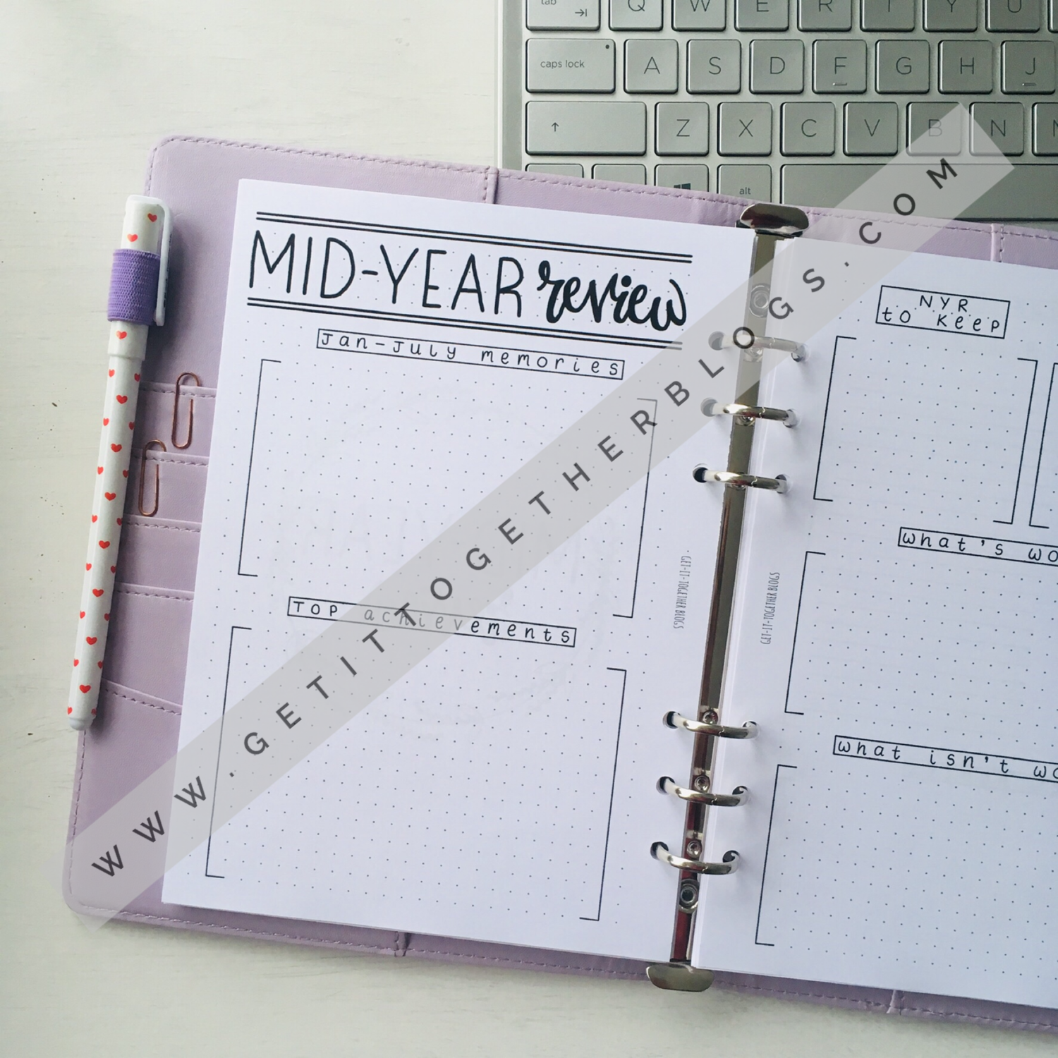 'Mid-Year Review' Downloadable Printable
