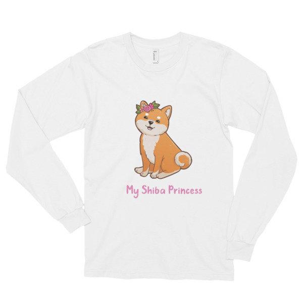 Kawaii Shiba Co. My Shiba Princess Long sleeve t-shirt (unisex)