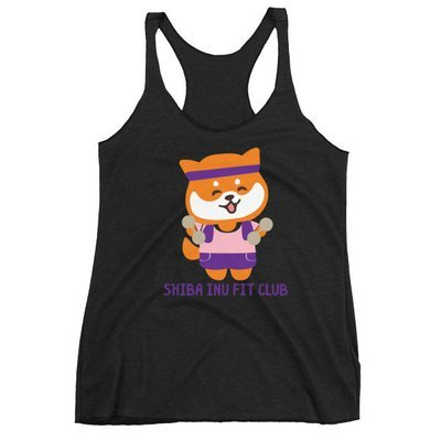 Kawaii Shiba Co. Ladies Fit Club Women's Racerback Tank