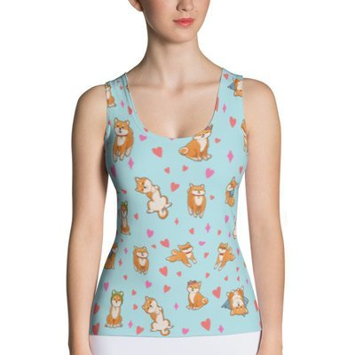Kawaii Shiba Co. Sublimation Cut & Sew Tank Top