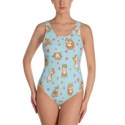 Kawaii Shiba Co. One-Piece Swimsuit