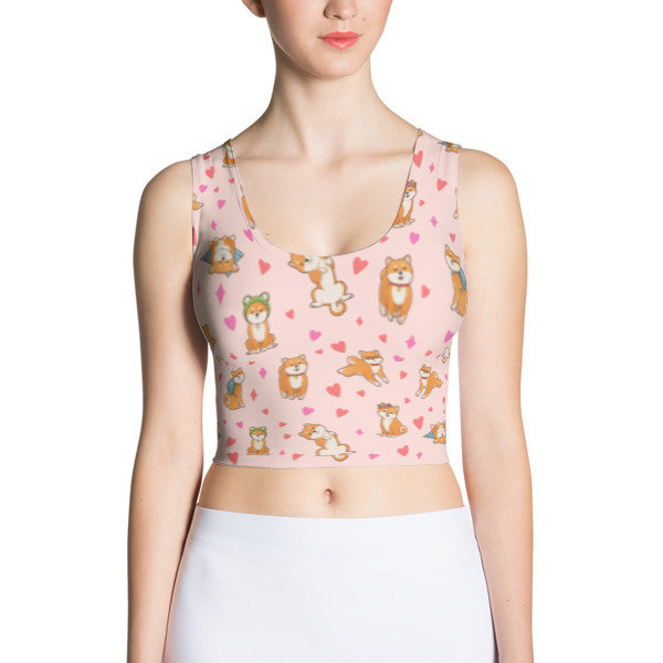 Kawaii Shiba Co. Sublimation Cut & Sew Crop Top
