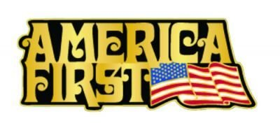 """America First"" lapel pin 00009"