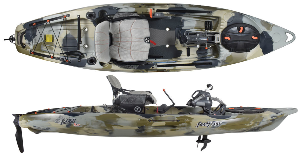 Feelfree Lure 11 5 Overdrive Pedal Powered Kayak Blue Camo