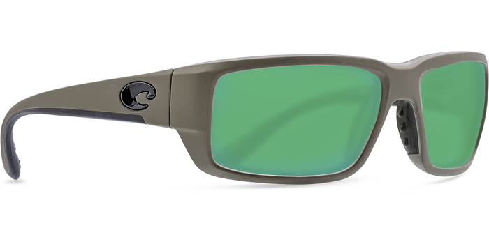 Costa Fantail 580G Sunglasses - Matte Grey/Green Mirror