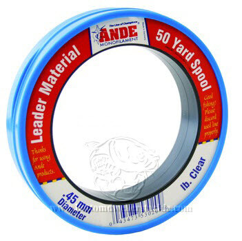 ANDE Clear Monofilament Leader - 50YD Spools
