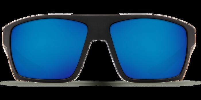 Costa Bloke 580G Sunglasses - Matte Black/Blue Mirror