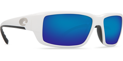 Costa Fantail 580P Sunglasses - White/Blue Mirror