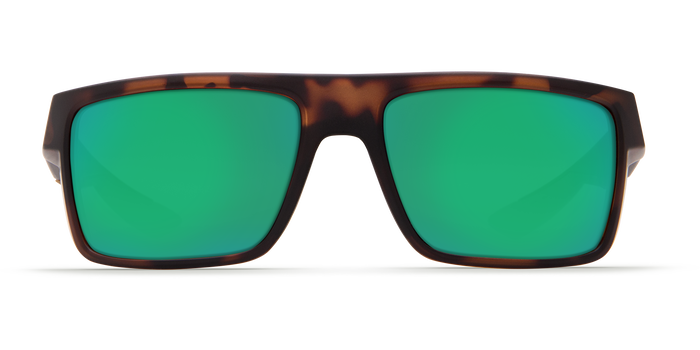 Costa Motu 580G Sunglasses - Matte RetroTortoise Frame/Green Mirror Glass