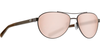Costa Fernandina 580G Sunglasses - Brushed Gunmetal/Silver Mirror