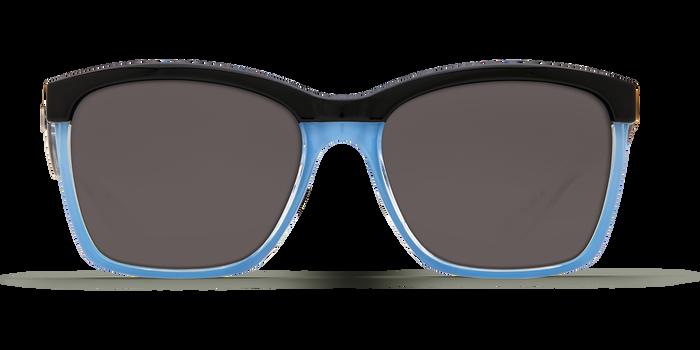 Costa Anaa 580G Sunglasses - Black & Crystal Lgt Blue/Blue Mirror