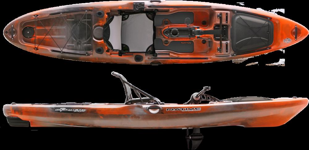 2017 Native Watercraft Slayer 13 Propel Kayak - Copperhead