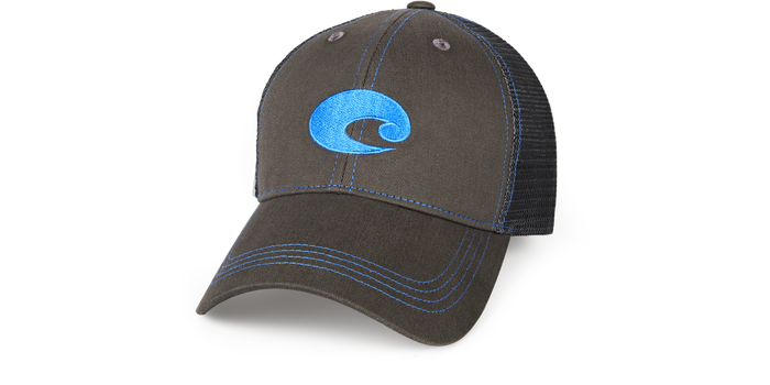 Costa Neon Trucker Graphite Hat - Neon Blue