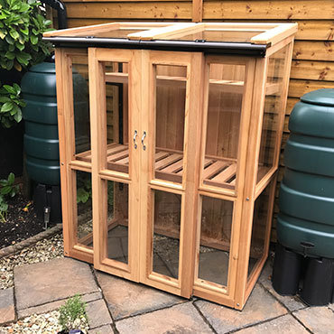 4ft x 2ft, 5ft Tall Cedar Coldframe