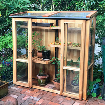 6ft x 2ft, 6ft Tall Cedar Coldframe