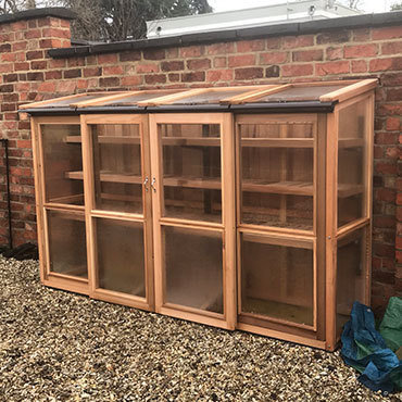 8ft x 2ft, 5ft Tall Cedar Coldframe