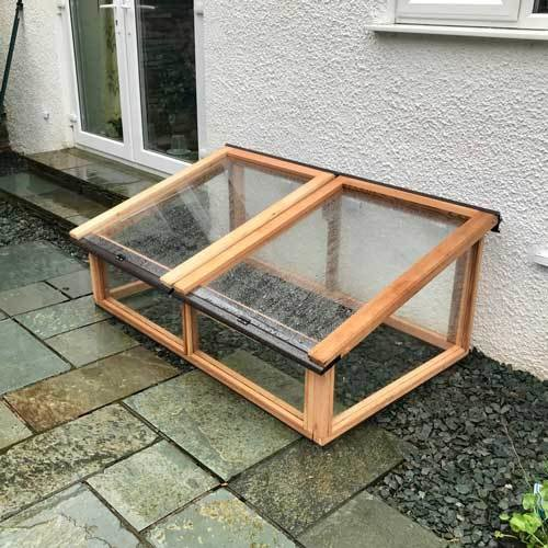 5ft x 3ft Fully Glazed Cedar Coldframe 3X5GCF