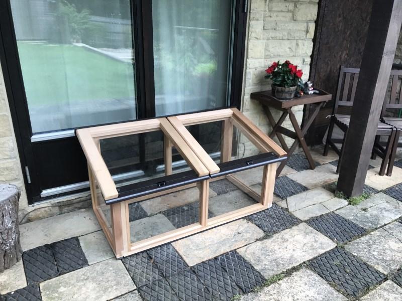 4ft x 2ft Fully Glazed Cedar Coldframe