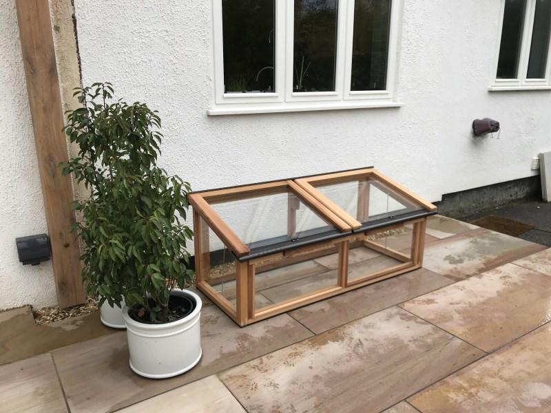 5ft x 2ft Fully Glazed Cedar Coldframe