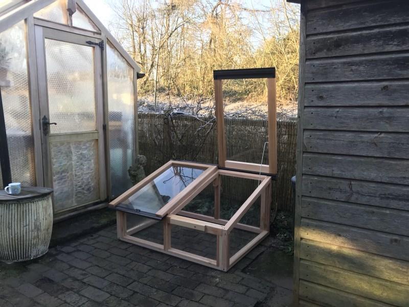 4ft x 3ft Fully Glazed Cedar Coldframe