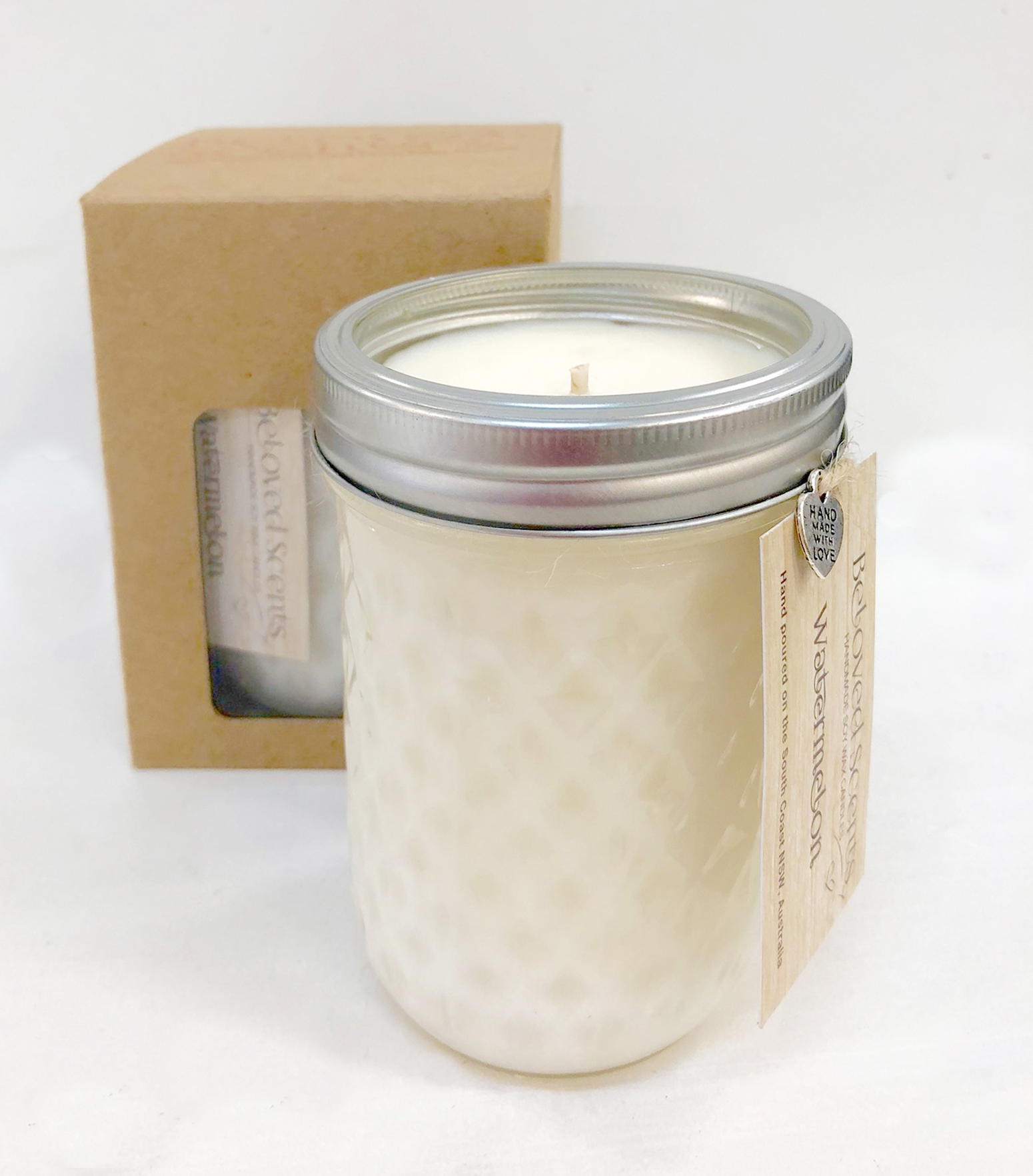 Large Wide Quilted Candle 00023