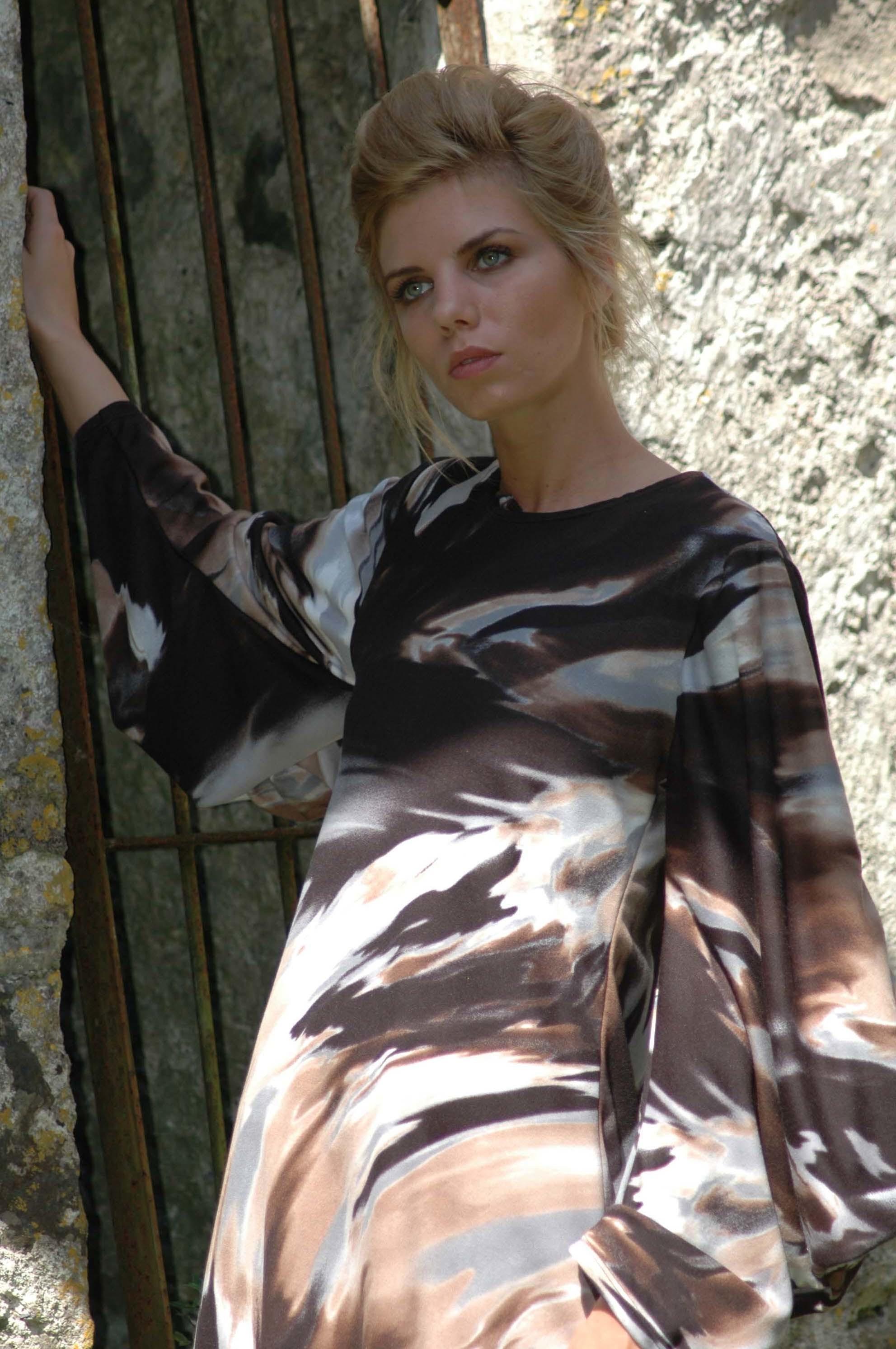 Nival Marbel Dress drs full sleeve