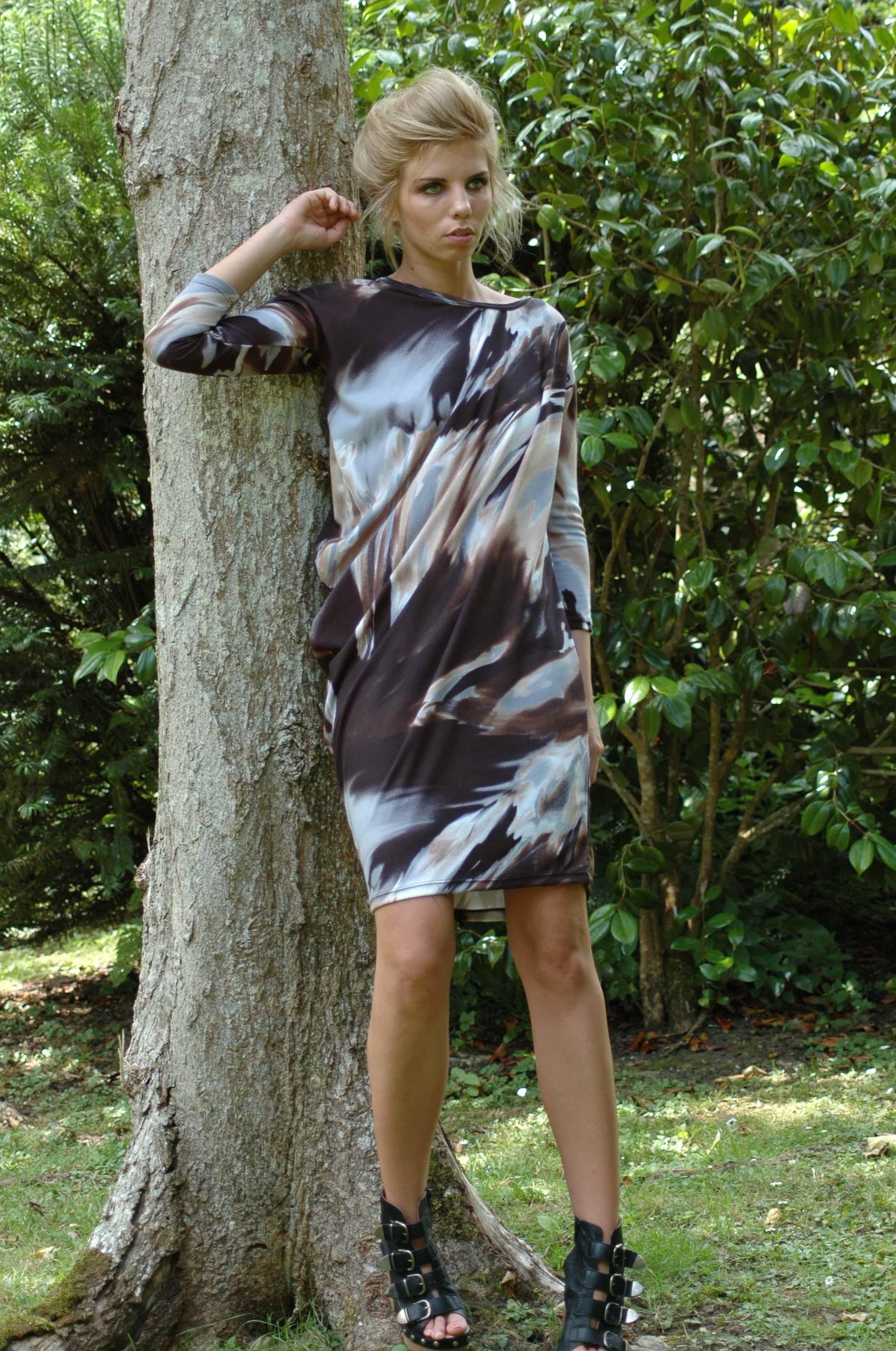Nival Drapped Marbel Dress nival marbel dress 2
