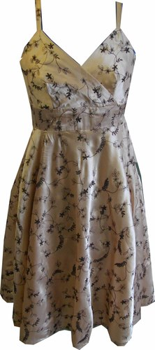Embroidered Satin Dress stn drs 1