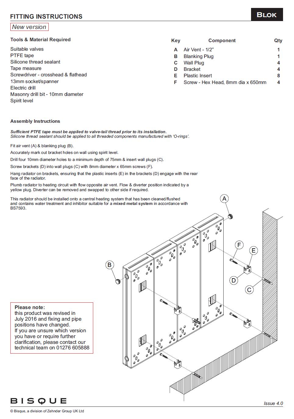 Bisque blok horizontal radiator blok fitting instructions pooptronica