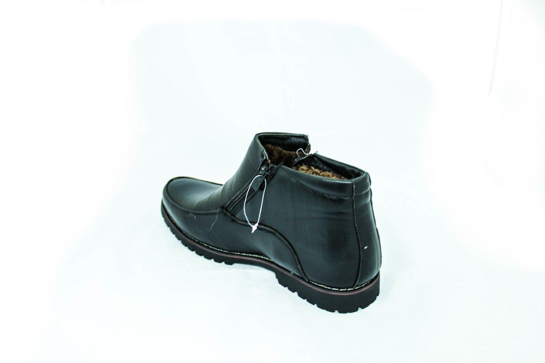 Классические черные мужские зимние ботинки
