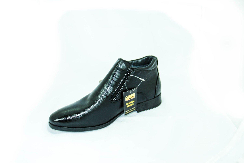классически зимние мужские ботинки с мехом