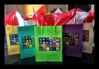 Book Bus Gift Bags