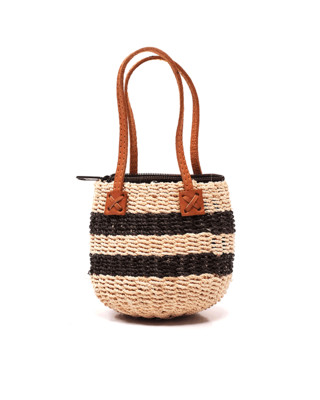 Mini Straw Zipper Bag