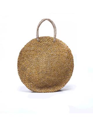Serenity Straw Circle Bag